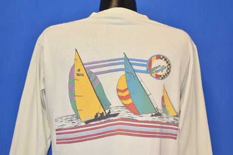 80s Ocean Pacific Sailboats Long Sleeve t-shirt Large