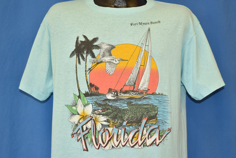 80s Florida Fort Meyers Beach Sunset t-shirt Large