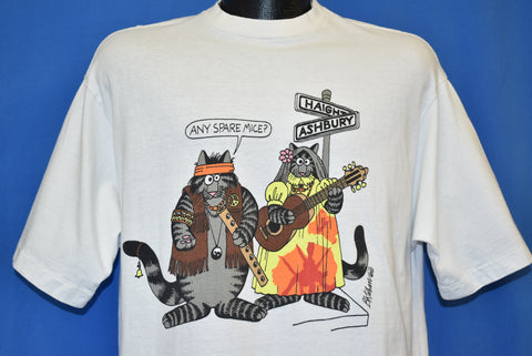 80s B. Kliban Hippie and Yuppie Cats t-shirt Large