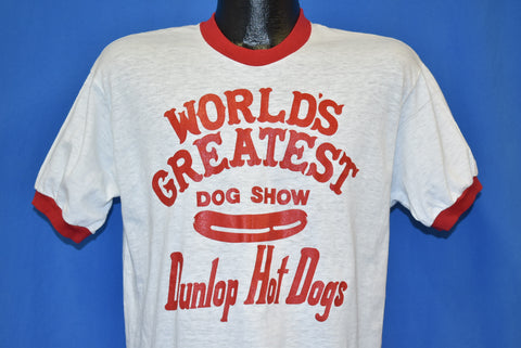 70s Worlds Greatest Dog Show Hot Dog t-shirt Large