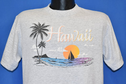 90s Hawaii Sunset Palm Trees Ocean t-shirt Large
