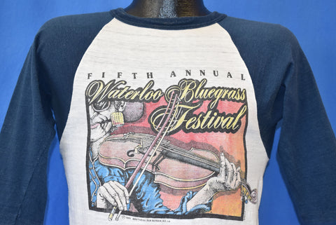 80s Waterloo Bluegrass Festival 5th Annual t-shirt Small