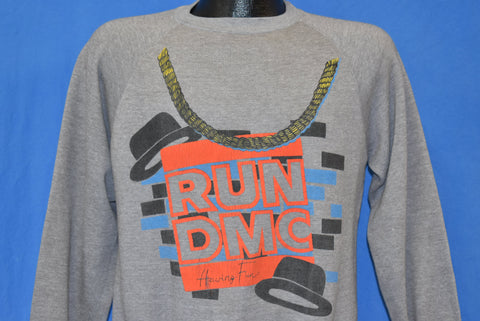 80s Run DMC Having Fun Hip Hop Sweatshirt Medium