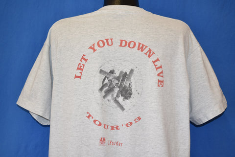 90s Gin Blossoms Let You Down Live Tour 1993 t-shirt Extra Large