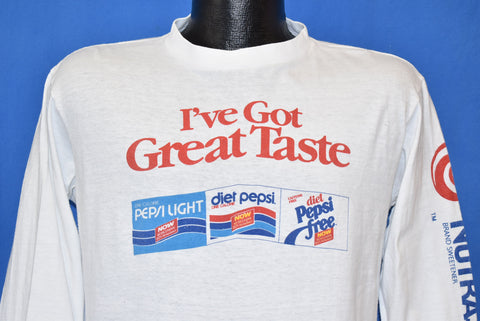 80s Pepsi I've Got Great Taste Long Sleeve t-shirt Medium