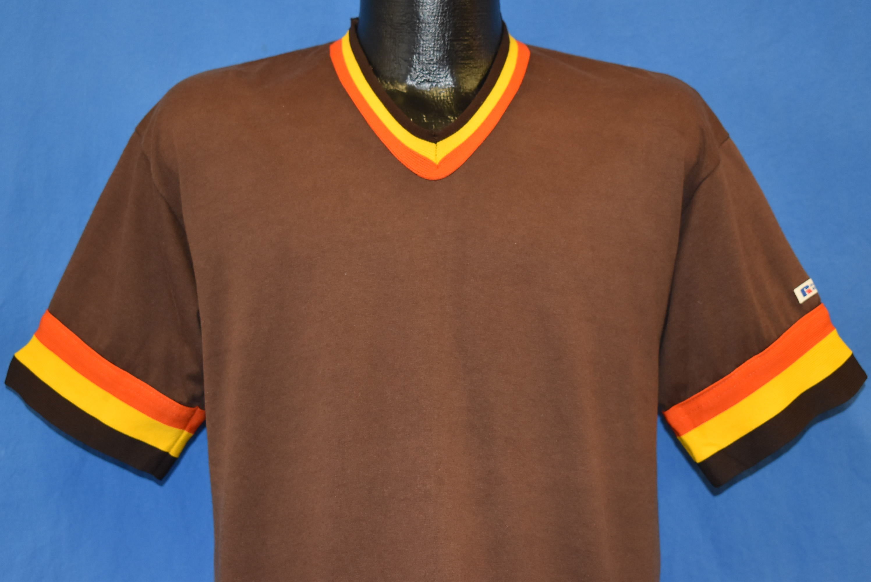 pretty nice ded6f 1fdda 80s Brown Padres Jersey Ringer t-shirt Large - The Captains ...