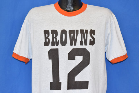 80s Cleveland Browns Don Strock #12 t-shirt Large