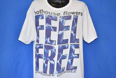 90s Hothouse Flowers Feel Free Distressed t-shirt XXL