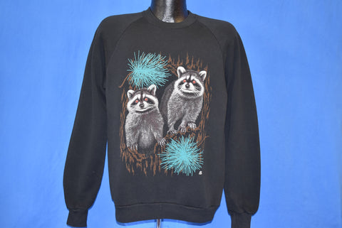 90s Racoons at Night Raglan Sweatshirt Large