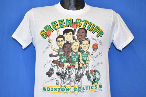 80s Boston Celtics Green Stuff Bird McHale t-shirt Small