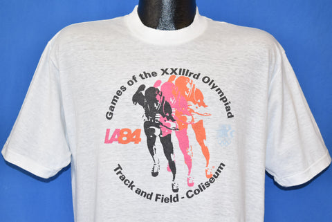 80s Olympics Los Angeles 1984 Track Field t-shirt Large