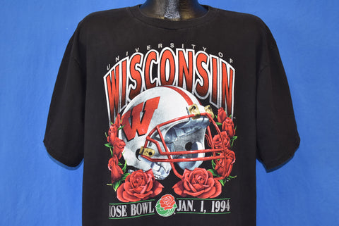 90s Wisconsin Badgers 1994 Rose Bowl Football t-shirt Large