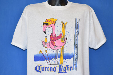 90s Corona Light Beer Longneck of Winter t-shirt Extra Large