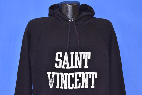 80s Saint Vincent Hooded Sweatshirt Extra Large