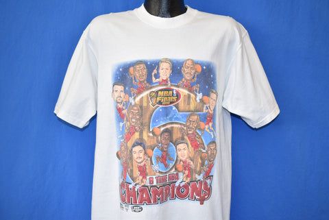 90s Chicago Bulls '98 Roster NBA Finals Champs t-shirt Large