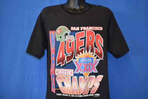 90s San Francisco 49ers Super Bowl XXIX Champs t-shirt Extra Large