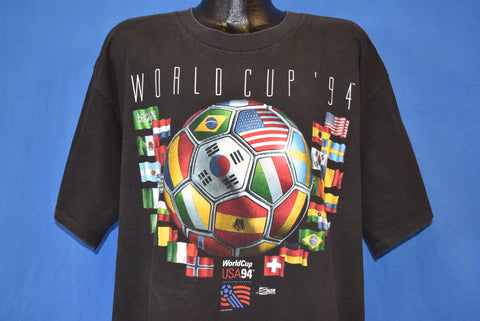90s World Cup Soccer 1994 Flags t-shirt Extra Large