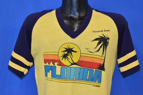 80s Pensacola Beach Florida V-Neck Jersey t-shirt