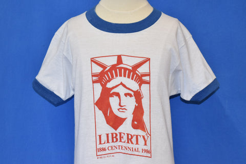 80s Statue of Liberty Centennial 1986 Ringer t-shirt Youth Medium