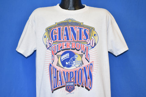 90s New York Giants 1990 Super Bowl XXV Champs t-shirt Large