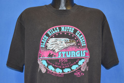 90s Sturgis Motorcycle Rally & Races 1991 SD t-shirt Extra Large
