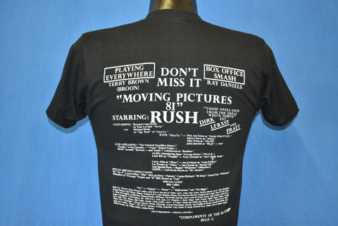 80s Rush Moving Pictures Album Deadstock t-shirt Small