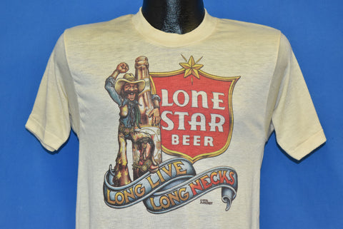 70s Lone Star Beer Long Live Long Necks t-shirt Small