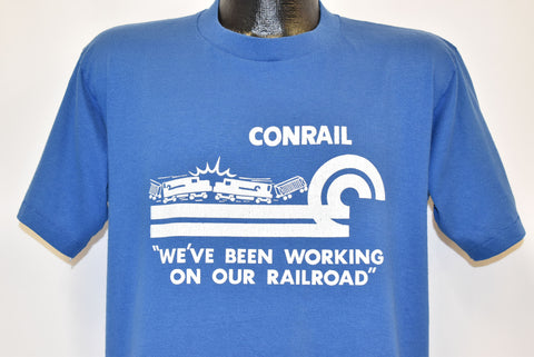 80s Conrail Working On Our Railroad t-shirt Large