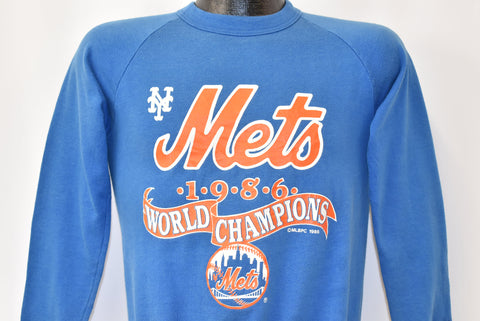 80s New York Mets 1986 World Champions Sweatshirt Small