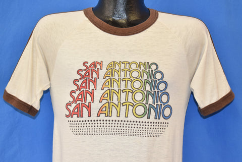 80s San Antonio Texas Ringer t-shirt Small