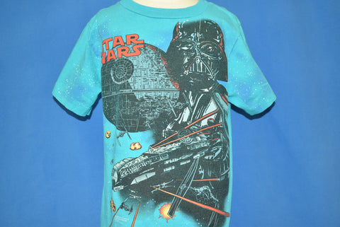90s Star Wars Darth Vader Death Star Fighter t-shirt Youth Small