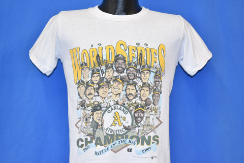 80s Oakland Athletic's 1989 World Series Champs t-shirt Small