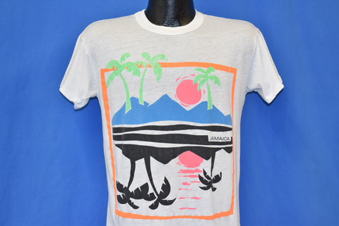 80s Island Sunset Beach Neon Reflection t-shirt Medium