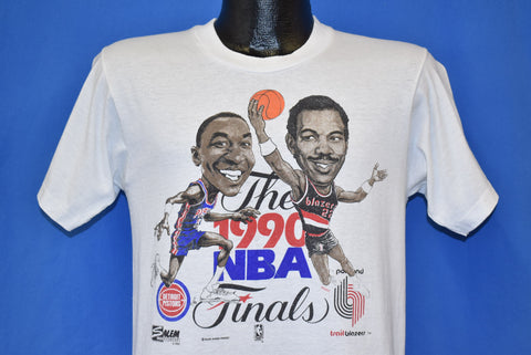 90s Detroit Pistons Vs Blazers '90 NBA Finals t-shirt Medium