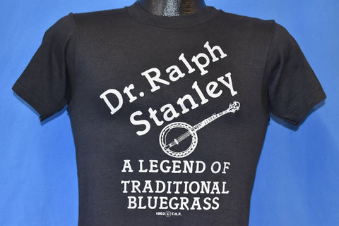 80s Dr. Ralph Stanley Legend of Bluegrass Music t-shirt Small