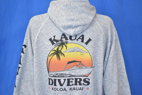 80s Kauai Divers Koloa Hawaii Sweatshirt Large