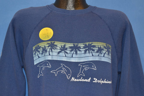 80s Newland Dolphins Huntington Beach Sunset Sweatshirt Large