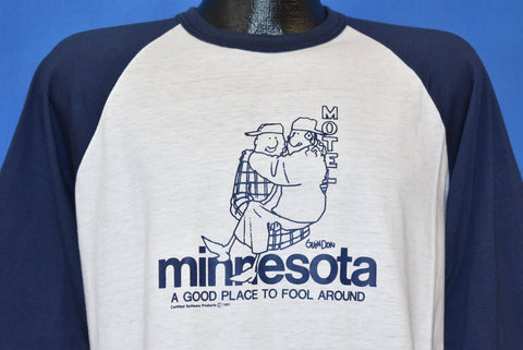 80s Minnesota A Good Place to Fool Around t-shirt Large