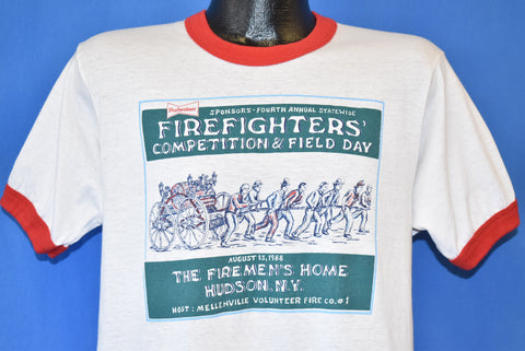 80s Firefighters Competition & Field Day Budweiser t-shirt Medium