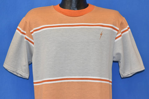 70s Lightning Bolt Striped Surf Deadstock t-shirt Medium