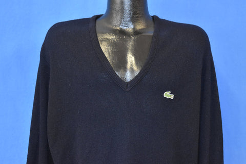 80s Izod Lacoste Black Pullover Sweater Large