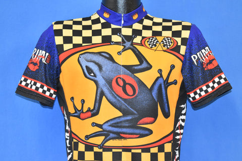 90s Primal #8 Frog Checkered Cycling Jersey Medium