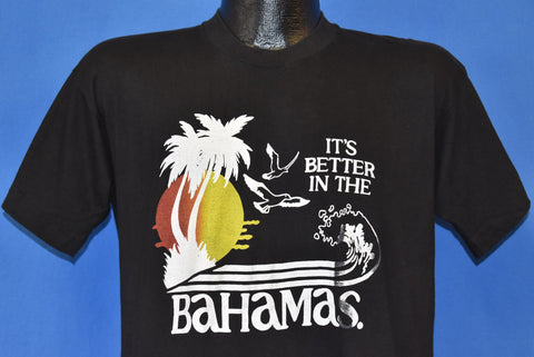 80's It's Better in the Bahamas Sunset Palm Tree t-shirt Medium
