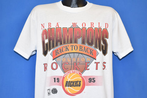 90s Houston Rockets NBA Champs 1995 Back to Back t-shirt Large