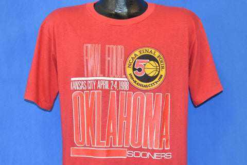80s Oklahoma Sooners Final Four College Basketball t-shirt Large