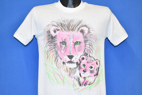 90s Pink Lion Cub Neon Airbrush t-shirt Youth Large