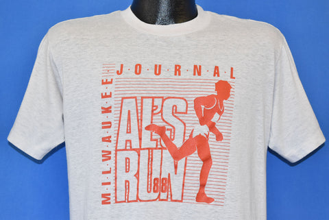 80s Milwaukee Journal Al's Run '88 t-shirt Medium