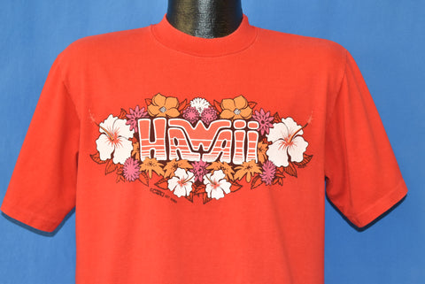 70s Hawaii Hibiscus Flowers Crazy Shirts t-shirt Large