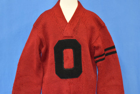 40s Varsity Letterman O Wool Sweater Small