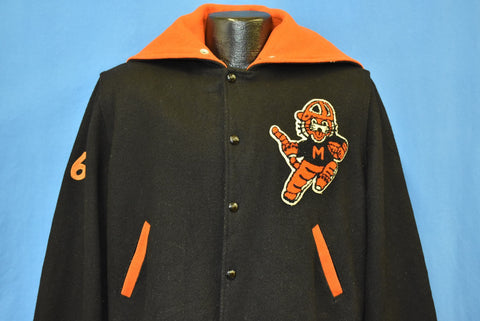 60s Massillon Washington High School Tigers Football Jacket Large
